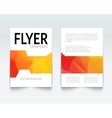 Abstract colorful Triangle Brochure Flyer report vector image