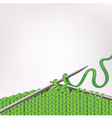 Background with knitting vector image