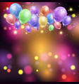 balloons and bokeh lights vector image