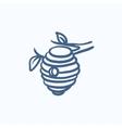 Bee hive sketch icon vector image