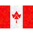 Canada flag on a triangle dark style vector image