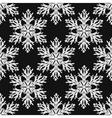 Falling snow seamless pattern White vector image