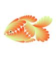 Gold small fish vector image