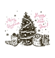 hand drawn christmas tree 5 vector image