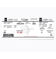 pattern of a boarding pass vector image