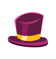 purple gentleman hat vector image