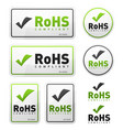 rohs compliant icons set vector image