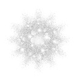 silver glitter texture splash on black background vector image