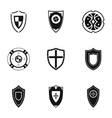 Combat shield icons set simple style vector image
