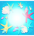 bright background with marine elements vector image