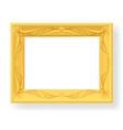 wooden frame on white background for design vector image vector image