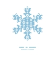 blue and white snowflakes stripes Christmas vector image