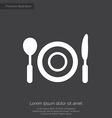 restaurant premium icon white on dark background vector image
