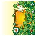 beer pint vector image
