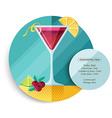 Cosmopolitan cocktail drink recipe for party vector image