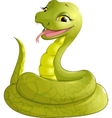 sly serpent smiling vector image