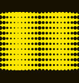black dots on a yellow background pop art vector image