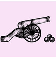 cannon doodle style vector image