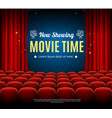 cinema movie time background card vector image