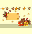 empty banner for text merry christmas and happy vector image