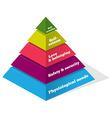 Maslow Psychology Chart vector image
