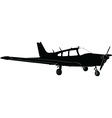 silhouette of the aircraft - vector image