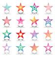 stars design set vector image