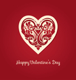 Valentines day love heart vector image