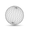 Wireframe globe icon 3d version vector image