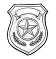 Doodle police badge vector image