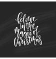Unique Christmas Lettering vector image