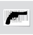Gun barcode vector image