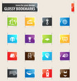 volleyball bookmark icons vector image