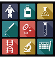 Biology flat icons vector image