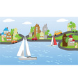 Houses on the waterfront vector image