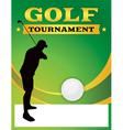 Golf Tournament Flyer Template vector image vector image