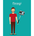 monopod user design vector image
