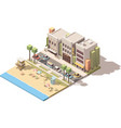isometric town beach vector image vector image