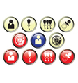 Icons of hotel service vector image vector image