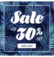 Summer sale Web-banner or poster with palm leaves vector image