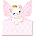 Adorable princess cat vector image