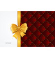 gift card template silk ribbon bow and quilted vector image