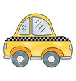 grated taxi car vehicle to transport service vector image