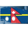 Nepal national flag vector image