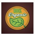 Organic fabric badge vector image