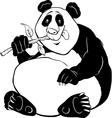panda bear coloring page vector image