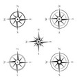 set of various icons of navigation compass vector image