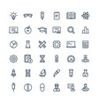 thin line icons set with science and vector image