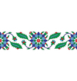 Turkish ornament border vector image