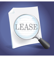 Reviewing a Lease Agreement vector image vector image